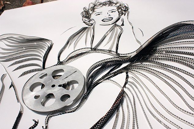 Reeling it in: Erika Iris Simmons creates portraits of movie icons from old films