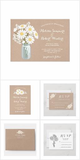 Elegant Daisy Beige Wedding Collection