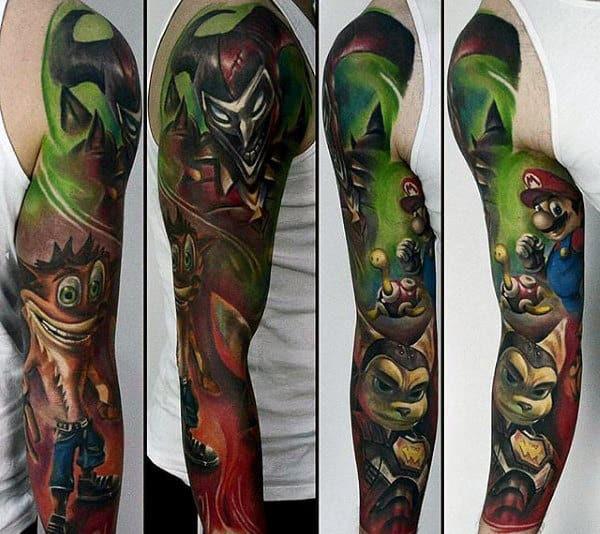 100 Video Game Tattoos For Men Gamer Ink Designs