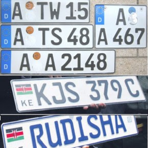 Kenyan German Number Plates 290x290