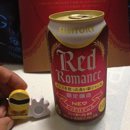サントリー×NEOのコラボ商品、レッドロマンス。カシス味。