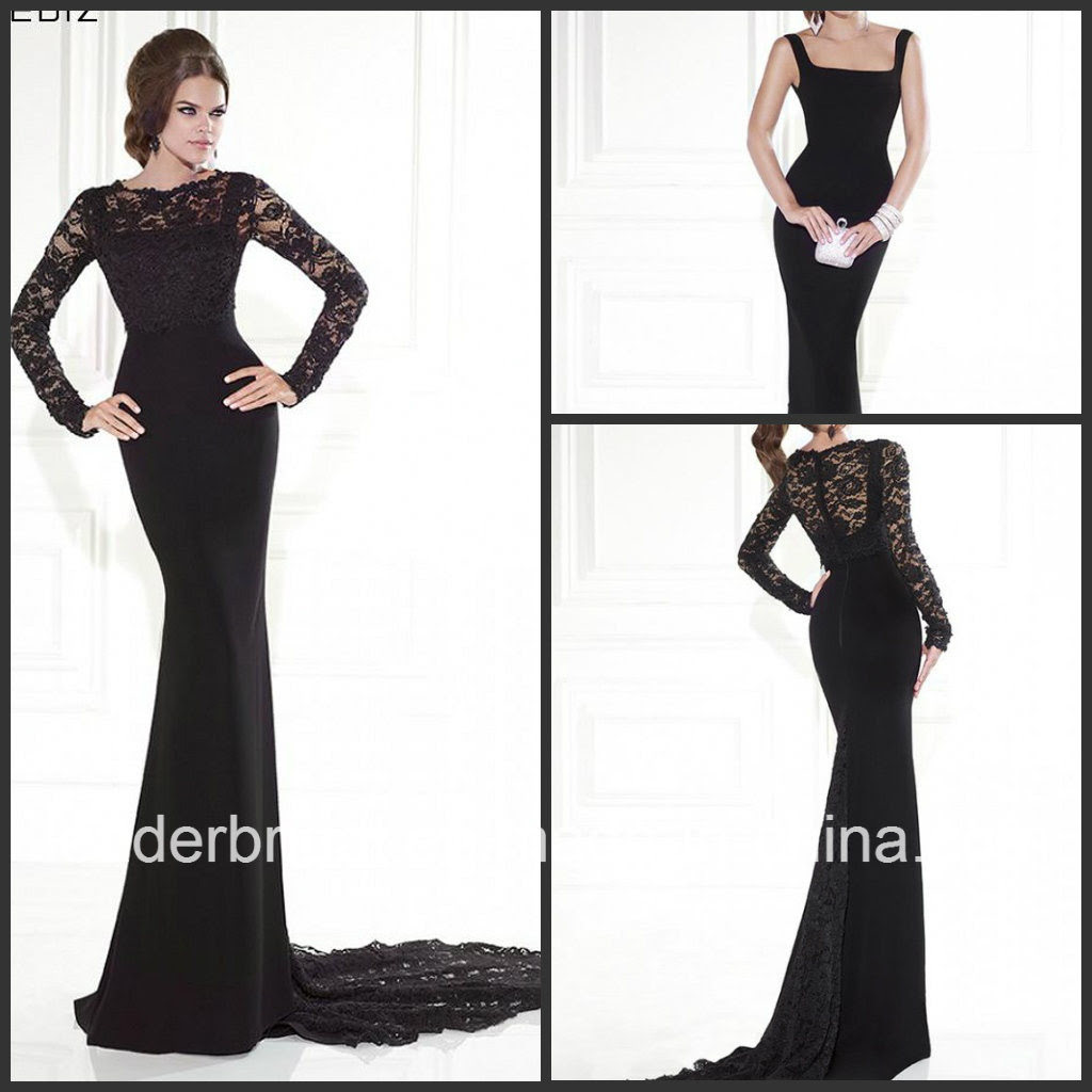 Long evening dress in lace