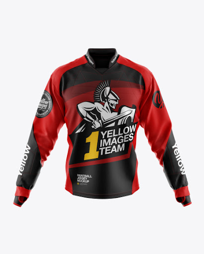 Download Free Paintball Jersey Mockup (PSD)