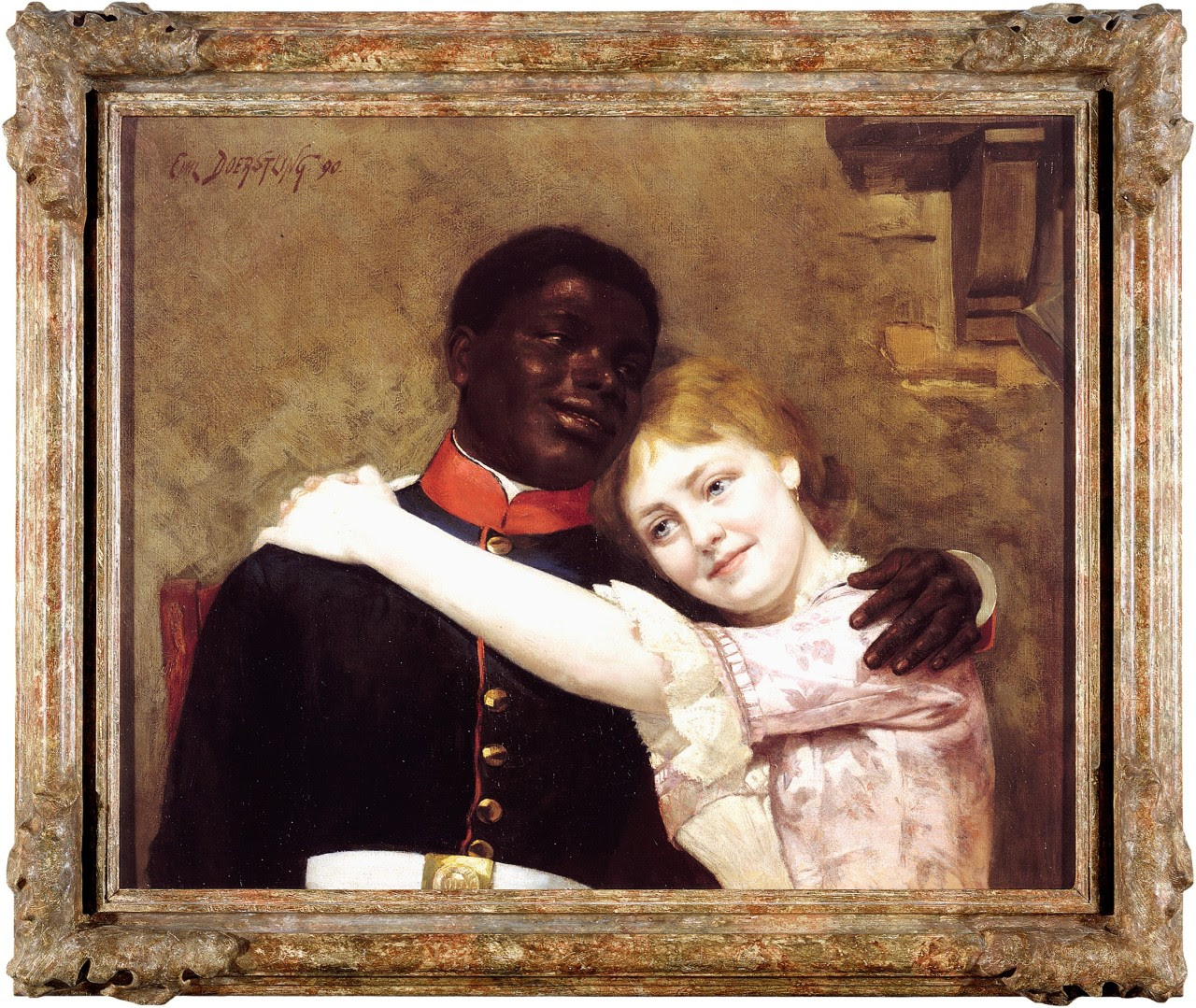 "historic-erotic-art: "" Today's piece of historic erotic art comes to us from 1890 and is the loving family portrait of Gustav Sabac el Cher and Gertrud Perlig by German artist Emil Doerstling which is entitled ""Prussian Happy Love"". (1) Though most..."