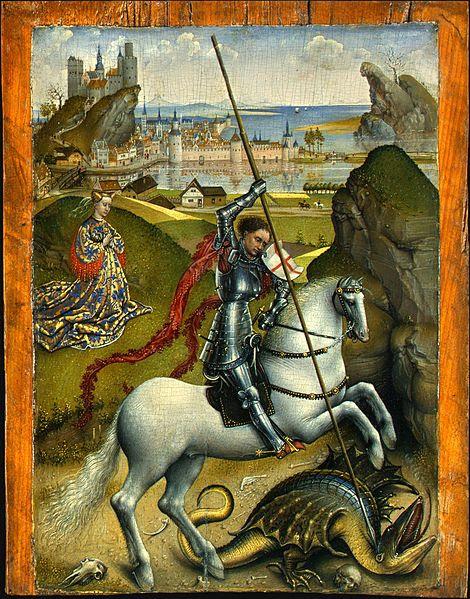 Fitxer:Rogier van der Weyden - Saint George and the Dragon, NGA, Washington.jpg