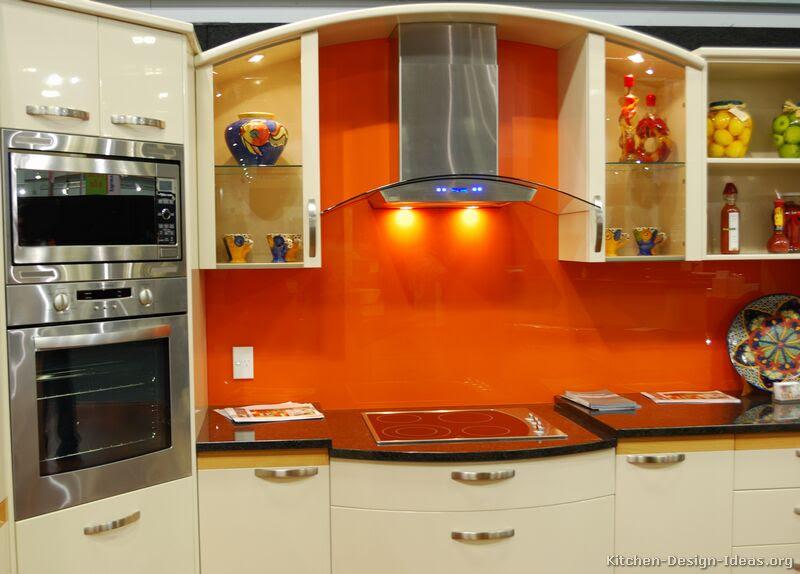 The Granite Gurus: 6 Orange Colored Kitchens