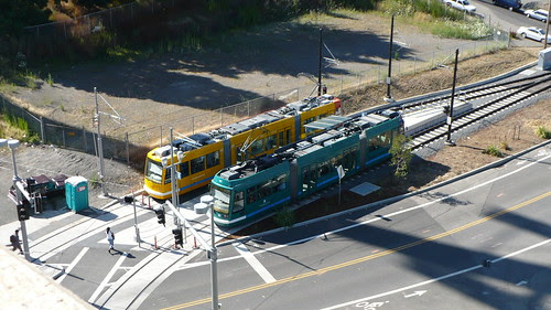 Streetcars from OHSU Building