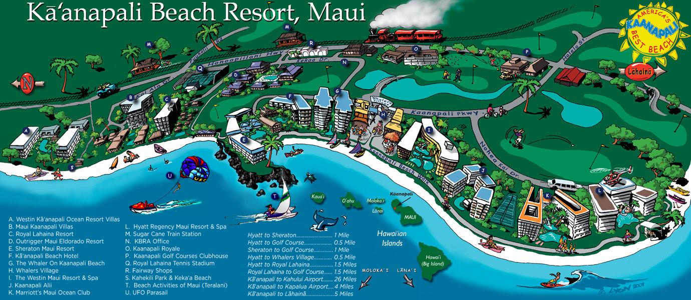 Map Of Kaanapali Beach Hotels Maping