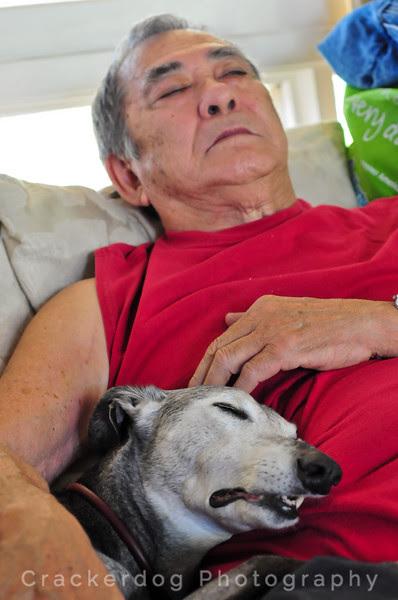Sadie and Dad take a nap