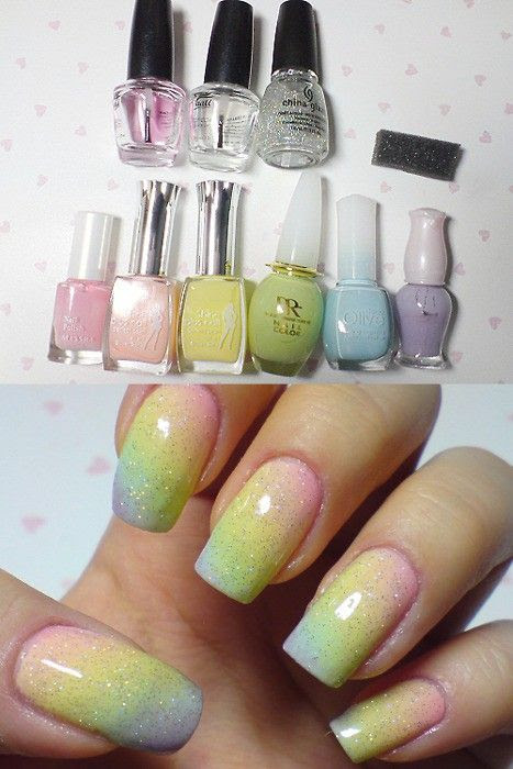 www.weddbook.com everything about wedding ♥ Bridal Nail Designs - Nail Art #rainbow #polish #nail #pastel
