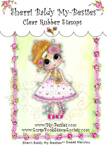 Clear Rubber Stamps Sweet Mary Lou My-Besties-