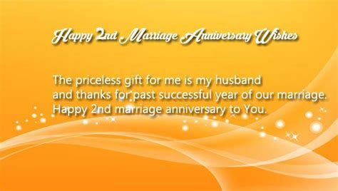 2nd Marriage Anniversary Wishes for Husband   Wishes4Lover