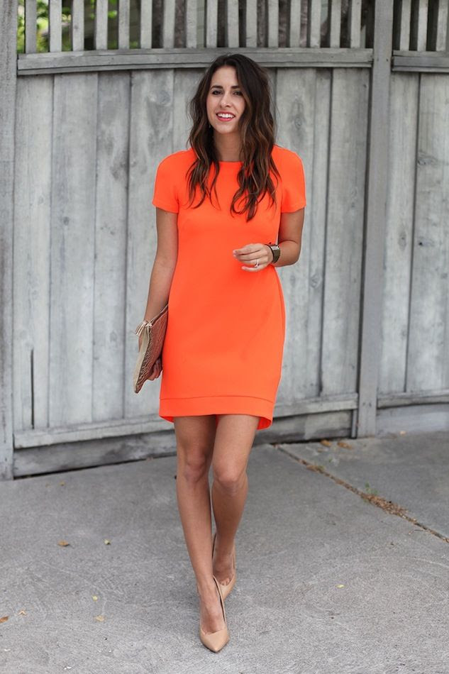 Le Fashion Blog What To Wear To A Summer Wedding Bright Easy Look Orange Dress Nude Pumps Long Wavy Hair Via Natalie Dressed photo Le-Fashion-Blog-What-To-Wear-To-A-Summer-Wedding-Bright-Easy-Look-Orange-Dress-Nude-Pumps-Long-Wavy-Hair-Via-Natalie-Dressed.jpg