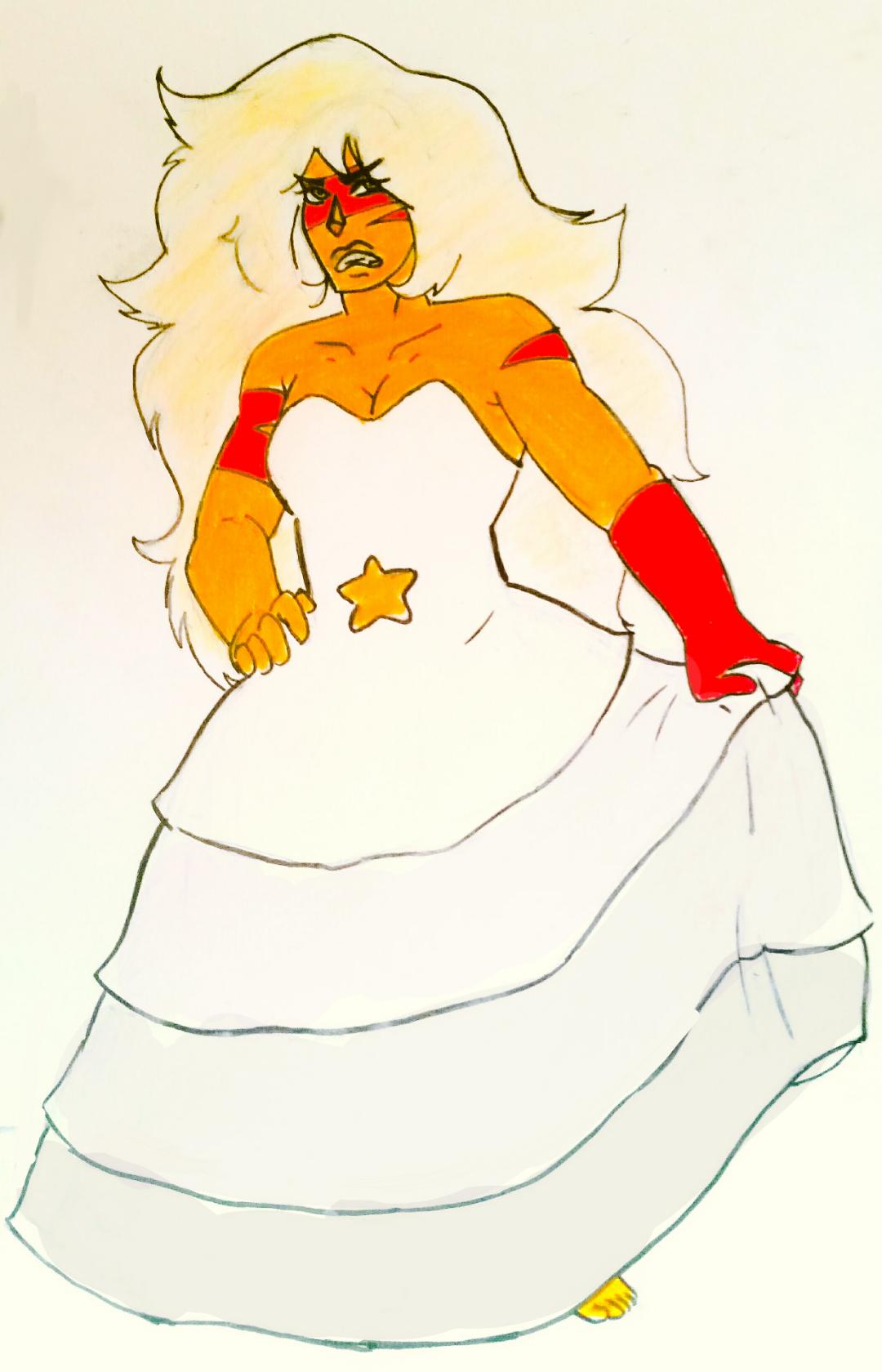 Jasper in rose quartz clothes swap