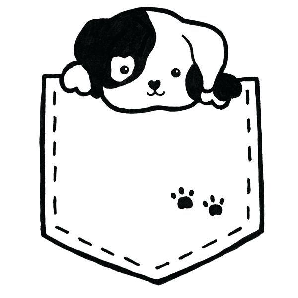 Dog Kawaii Drawing Dunia Belajar