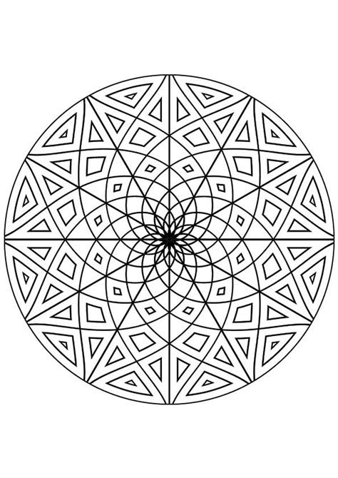 kaleidoscope coloring pages coloringstar