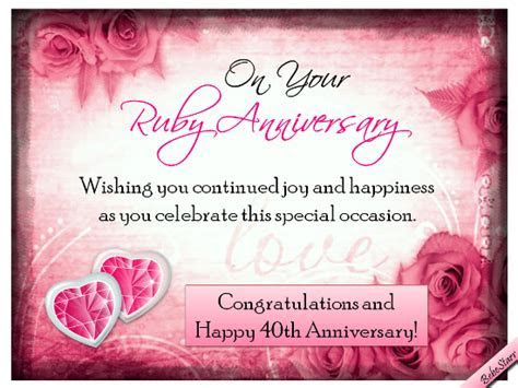 Happy 40th Marriage / Wedding Anniversary Wishes, Quotes