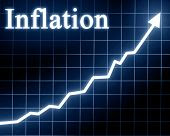 pic of inflation  - Arrow graph going up with inflation written on it - JPG
