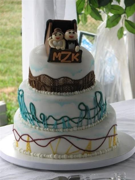 Our Roller Coaster Wedding Cake! Made by Cakes By Graham