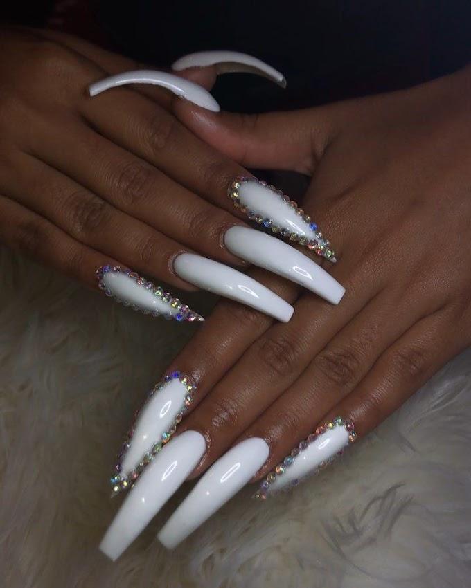 90 Long Acrylic Nails Design Ideas June 2020