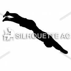 飛び込みシルエット イラストの無料ダウンロードサイトシルエットac