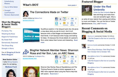 Featured Blogger on Blogher!