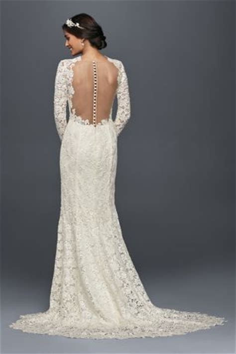 Long Sleeve Lace Wedding Dress with Open Back Style