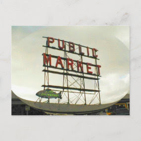 Public Market in Seattle, WA Postcards