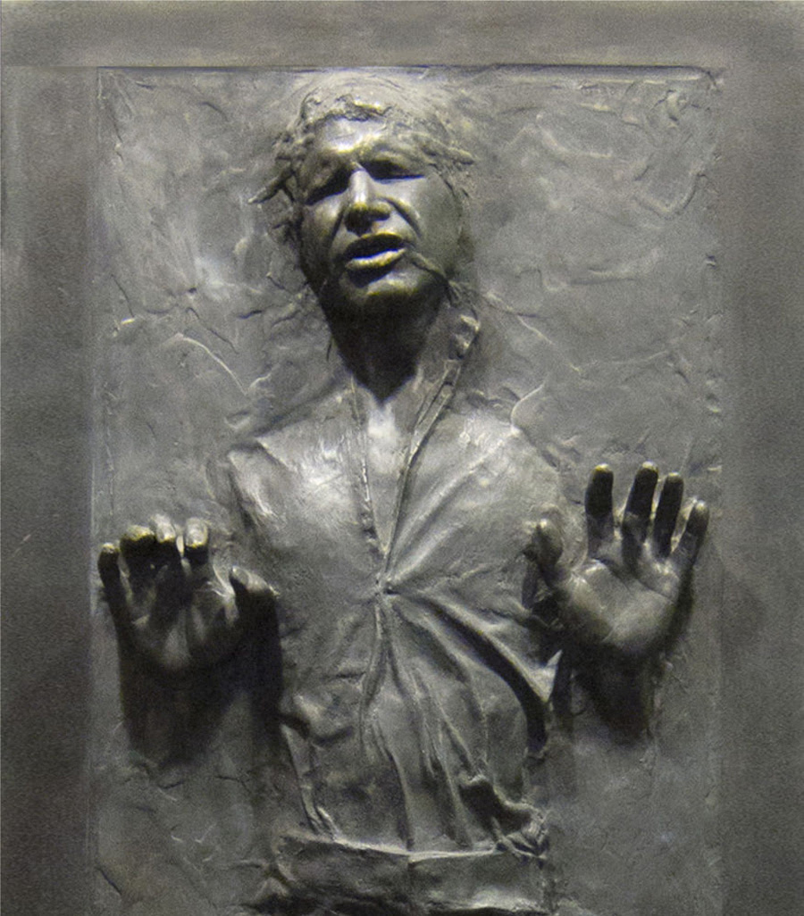 Han Solo frozen in carbonite, from Star Wars