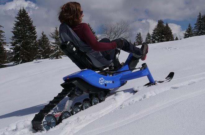 Arosno E-trace – велоснегоход с электрическим приводом для зимних покатушек