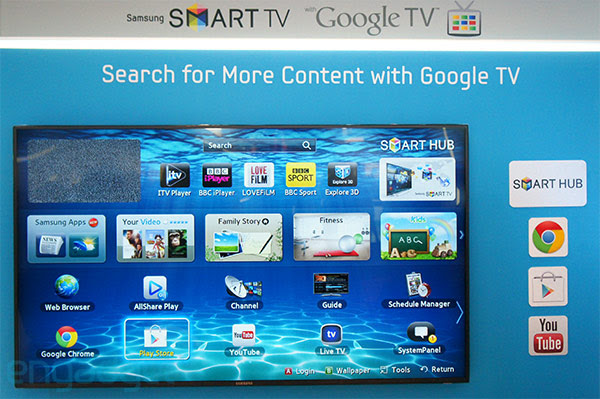 Samsung Smart TV with Google TV on display at IFA 2012, ships 'later this year'