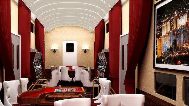 """X"" Train entertainment lounge"