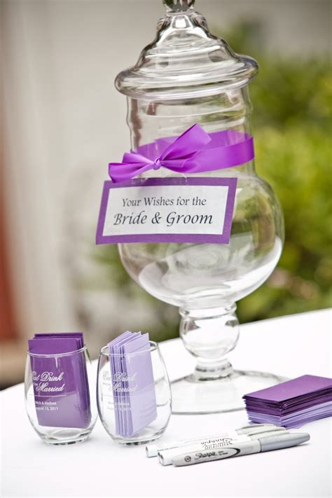 Wish jar for the bride and groom. Great to have near the
