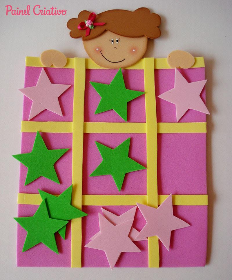 lembrancinha dia das criancas jogo da velha EVA menininho menininha brincadeira escola artesanato painel criativo 2