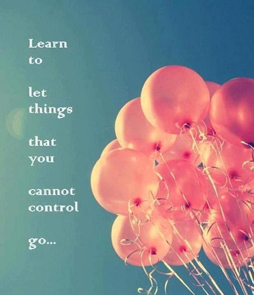 Learn To Let Things Quote Picture
