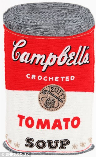 Campbell's crocheted Tomato Soup