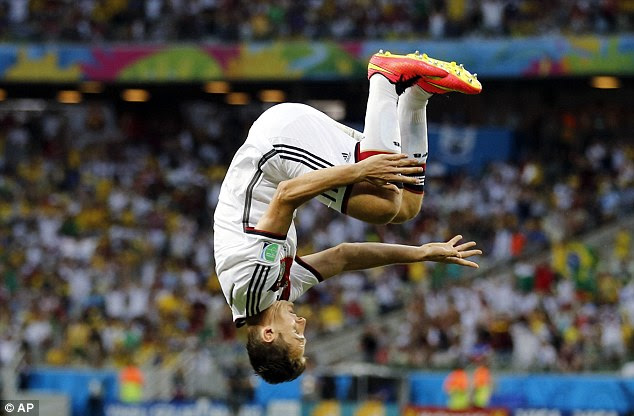 Miroslav Klose has made the somersault celebration a trademark of his during an illustrious career