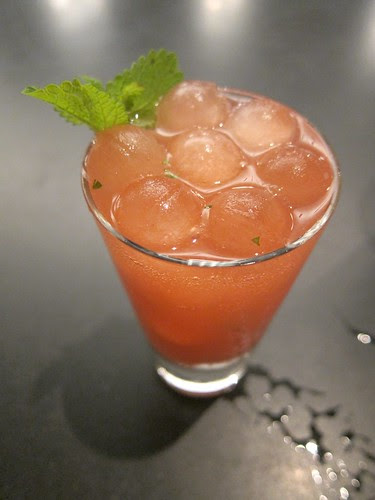 Rhubarb Cocktail, Peychaud Ice