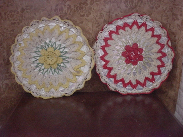 Hand Crocheted Doily in a Wall hanging item