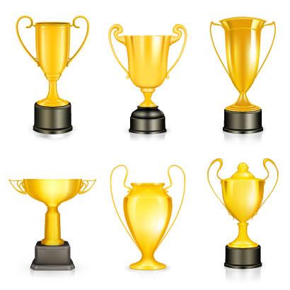 トロフィー優勝カップ6種のイラストaieps ベクタークラブ