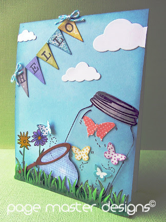 Butterfly jar card
