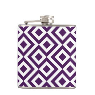 Purple and White Meander Flask