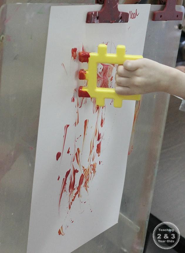 Preschool Art at the Easel