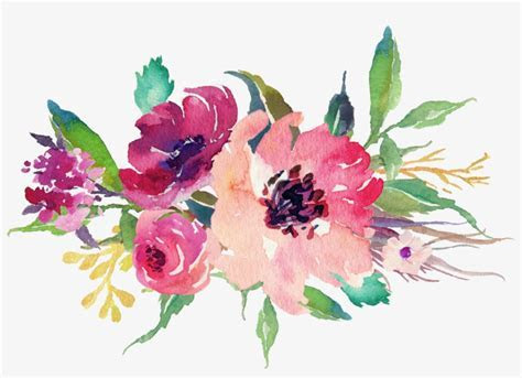 Watercolor Floral Bouquet Png Stock   Wedding Flowers