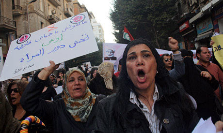 Egyptian women protest during 2013. Women are holding demonstrations against sexual harassment inside the country. by Pan-African News Wire File Photos