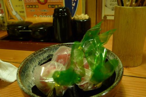 Strawberry (with cream) desert at Yakitori restaurant