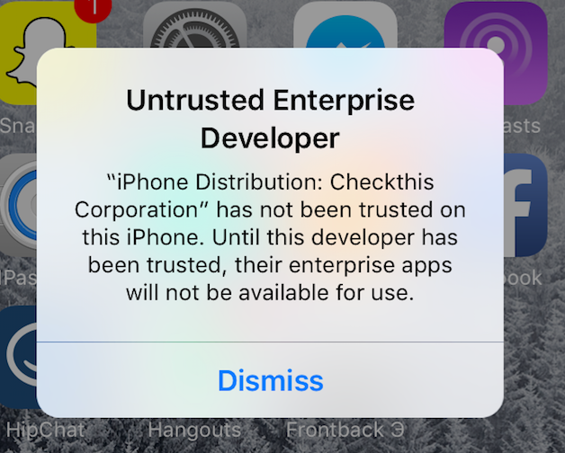 iOS9 Untrusted Enterprise Developer with no option to ...