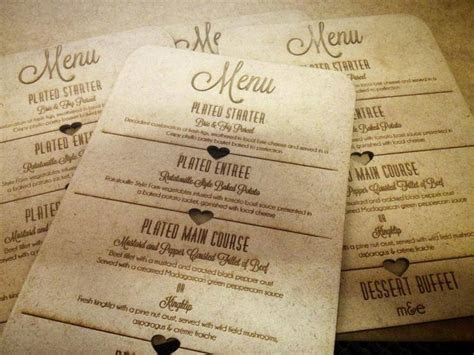 Laser etched Menu by Laser Creations