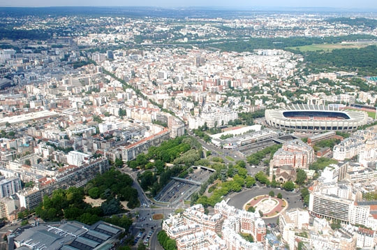 Le Parc des Princes - Paris vu du ciel sur L'Internaute Paris