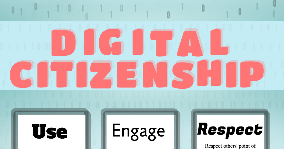 Awesome Digital Citizenship Graphic for your Classroom
